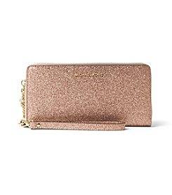 MICHAEL Michael Kors® Glittered Leather Travel Continental Wallet
