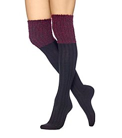 HUE® Boucle Top Over The Knee Socks
