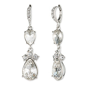 Givenchy® Crystal Double Drop Earrings