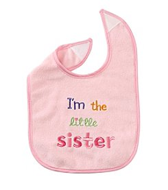 Cuddle Bear® Baby Girls' Little Sister Bib