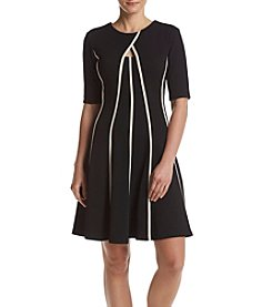 Gabby Skye® Bubble Knit Fit And Flare Dress