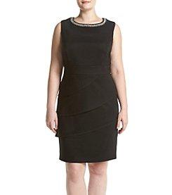 Connected® Plus Size Shutter Tier Dress