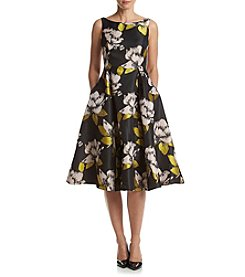 Adrianna Papell® Floral Jacquard Dress