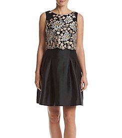 Ivanka Trump® Floral Top Fit And Flare Dress