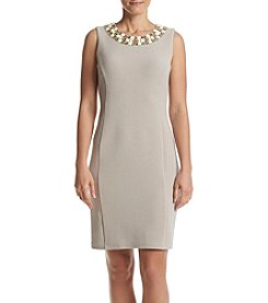 Ronni Nicole® Necklace Trim Sheath Dress