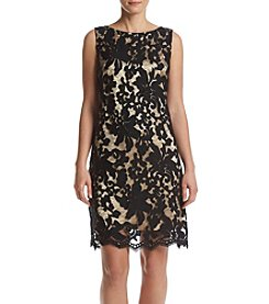 Ronni Nicole® Flocked Lace Shift Dress