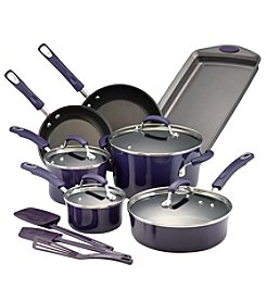 Rachael Ray® 14-pc. Hard Porcelain Enamel Nonstick Purple Cookware Set