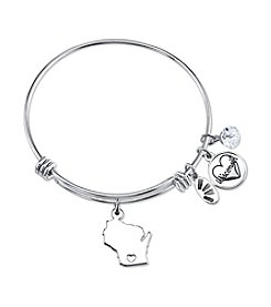 Gratitude and Grace Wisconsin Adjustable Bangle