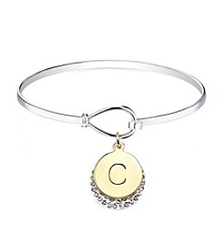 Gratitude and Grace Initial Catch Bangle