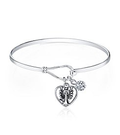 Gratitude and Grace Guardian Angel Catch Bangle