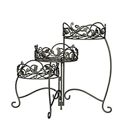 Panacea Scroll & Ivy 3-Tier Folding Plant Stand
