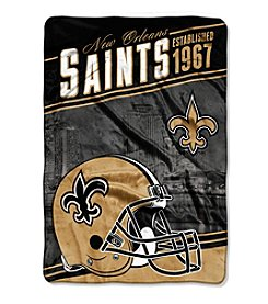 Northwest Company NFL® New Orleans Saints Stagger Micro Oversize Throw