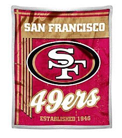 Northwest Company NFL® San Francisco 49ers Mink Sherpa Throw
