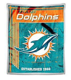 Northwest Company NFL® Miami Dolphins Mink Sherpa Throw