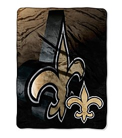 Northwest Copmany NFL® New Orleans Saints Bevel Micro Raschel Throw