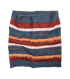 MUK LUKS Stripe Funnel Hat