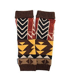 MUK LUKS Color Block Geo Knit Armwarmers