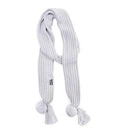 MUK LUKS Textured Long Skinny Scarf
