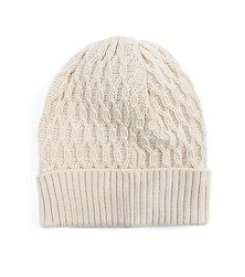 MUK LUKS Textured Cuff Cap