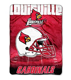 Northwest Company NCAA® Louisville Cardinals Overtime Micro Fleece Throw