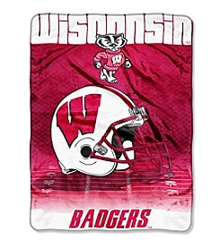Northwest Company NCAA® Wisconsin Badgers Overtime Micro  Fleece Throw