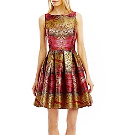 Nicole Miller New York® Printed Jacquard Dress