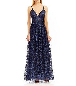 Nicole Miller New York® Spaghetti Strap Soutache Gown
