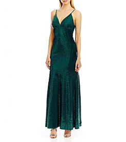 Nicole Miller New York™ Herringbone Sequin Gown