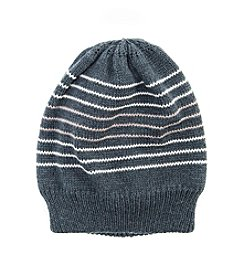 MUK LUKS Men's Striped Beanie