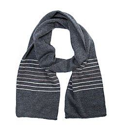 MUK LUKS Men's Striped Scarf