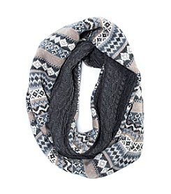 MUK LUKS Men's Fairisle Reversible Eternity Scarf
