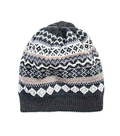 MUK LUKS Men's Fairisle Beanie