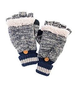 MUK LUKS Men's Marl Sock Flip Mittens