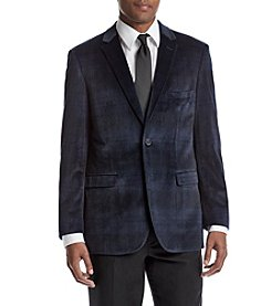 Adolfo Men's Tartan Velvet Sport Coat