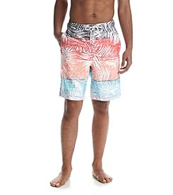 Paradise Collection® Men's Botanical Stripe Swim Trunks