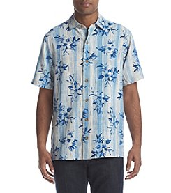 Paradise Collection® Men's Short Sleeve Button Down Silk Shirt