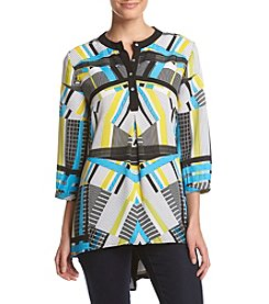 Relativity® High Low Geometric Tunic
