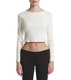 Kensie® Ribbed Crop Top