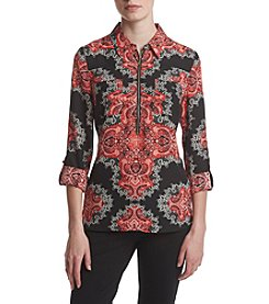 Sequin Hearts® Border Print Utility Top