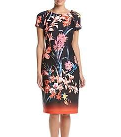 Gabby Skye® Floral Scuba Midi Dress