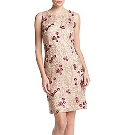 Calvin Klein Sheath Embroidered Dress