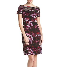 Adrianna Papell® Floral Illusion Sheath Dress