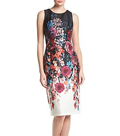 Adrianna Papell® Floral Midi Scuba Dress