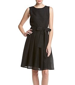 Tommy Hilfiger® Sheer Stripe Fit And Flare Dress