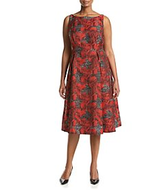 Adrianna Papell® Plus Size Jacquard Dress