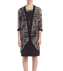 R&M Richards® Petites' Foil Jacket And Dress