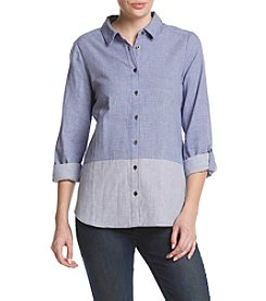 G.H. Bass & Co. Double Layered Gingham Top