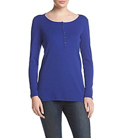 G.H. Bass & Co. Wide Rib Jersey Top