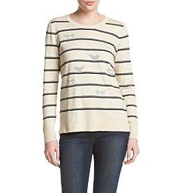G.H. Bass & Co. Bird Striped Sweater