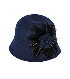 Nine West® Folk Talk Feather Melton Hat